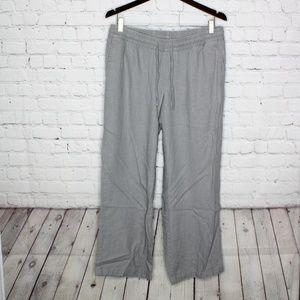 Old Navy Linen Blend Pants Gray Size Medium